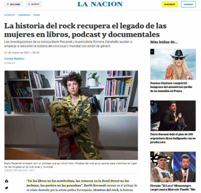 #CantorasTodas en #LaNación