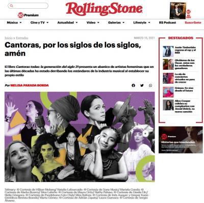 #CantorasTodas ahora en #RollingStone
